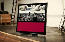 Bang & Olufsen BeoVision 10 LCD TV, in black with red front insert