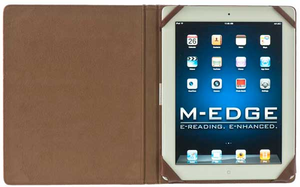 M-Edge Out of Print Jacket iPad cover, shown open