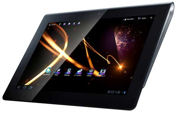 Sony S Tablet, front angle