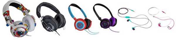 Aerial7 headphone range