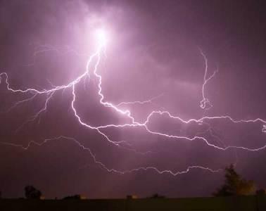A sky full of lightning