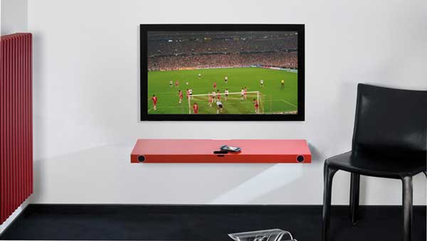 Hohrizontal 51 speaker shelf, with TV