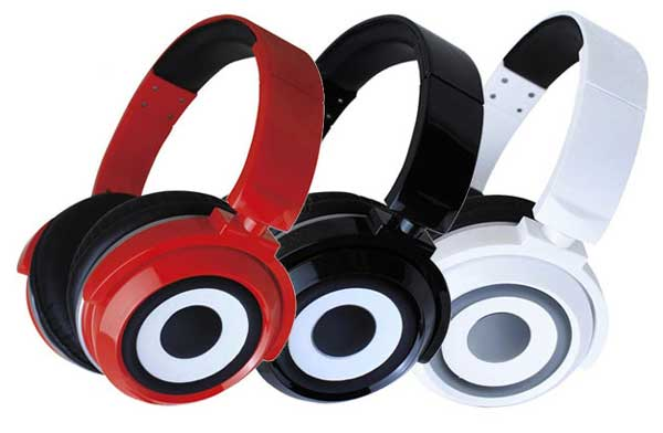 Zumreed X2 headphone colour range - red, white and black