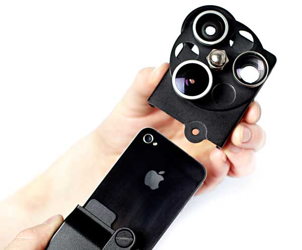 iPhone Lens Dial, in the hand
