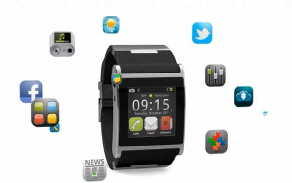Front view of the i'm watch, powered by Android