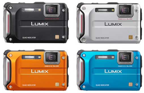 Panasonic DMC-FT4 digital camera colour range