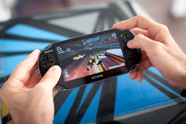 PlayStation Vita, in hand