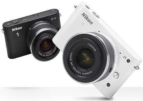 Nikon 1 J1, black and white models