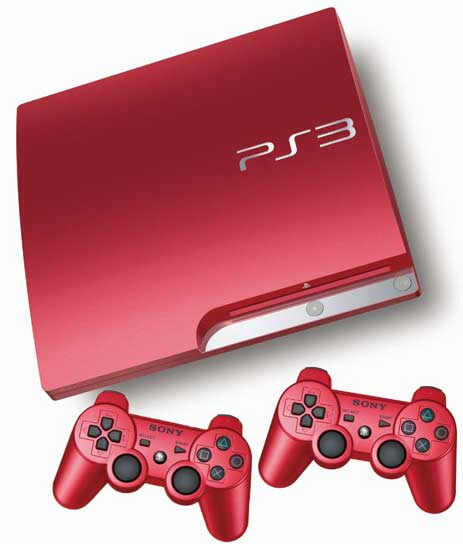 Scarlet red limited edition Sony PS3