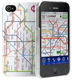 Cygnett Tube Map iPhone 4S case