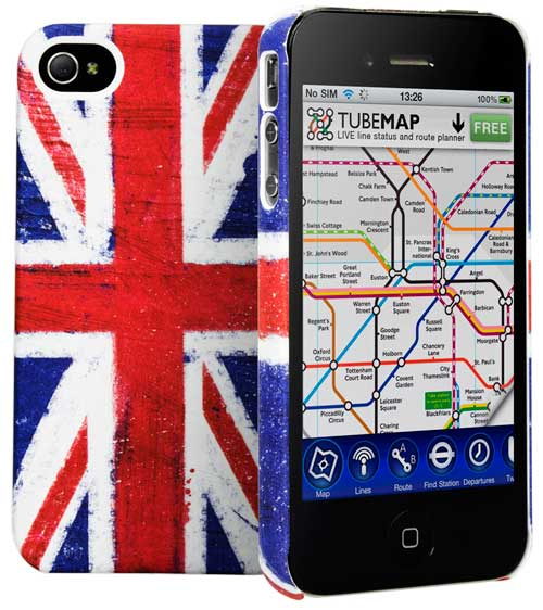 Cygnett Union Jack iPhone 4S case