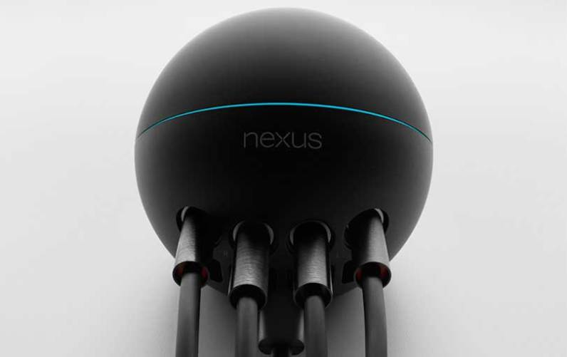 wires in the back of the Google Nexus Q
