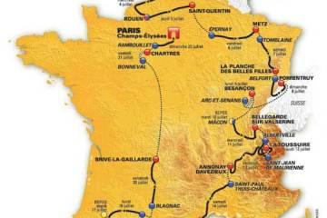 Tour de France route 2012