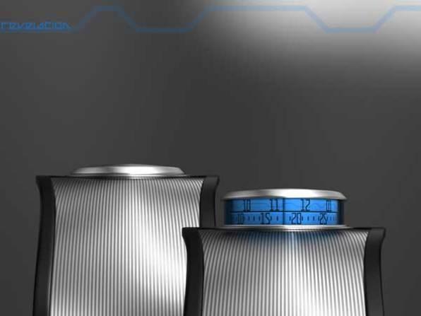 Sam Jerichow Revelation Watch design for Tokyoflash, blue display