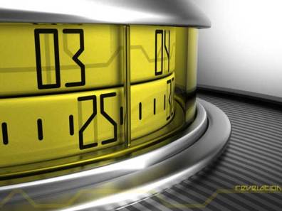 Sam Jerichow Revelation Watch design for Tokyoflash, closeup of the yellow dial