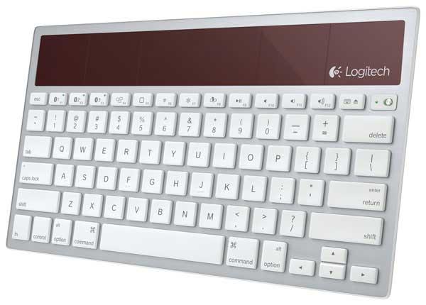 Logitech K7600 wireless solar keyboard, angle