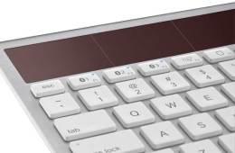 Logitech K7600 wireless solar keyboard, closeup