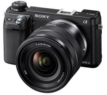 Sony Alpha NEX-6 compact system camera with SEL1018 lens
