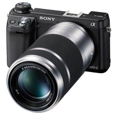 Sony Alpha NEX-6 compact system camera with SEL55210 lens