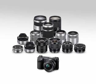 Sony Alpha NEX-6 compact system camera and the E-Mount lens family