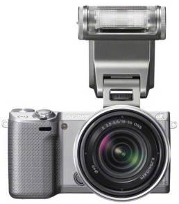 Sony-NEX5R-silver-front-flash