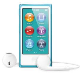 iPod nano 2012 model, blue, front
