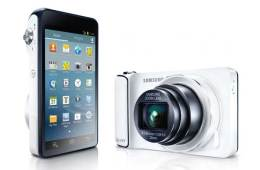 Samsung Galaxy Camera, front and screen shot
