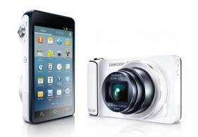 Samsung Galaxy Camera, front and screen shot