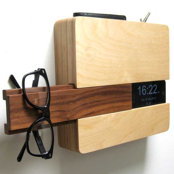The Butler stores your iPhone, wallet, keys and more - side view