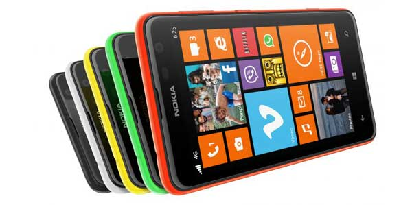 Nokia Lumia 625 smartphone, colours