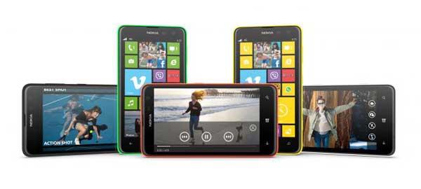 Nokia Lumia 625 smartphone range