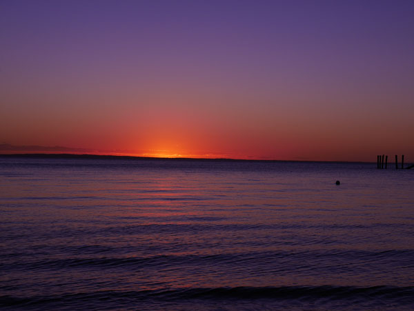 Fraser-Island-Kingfisher-Bay-purple-sunset