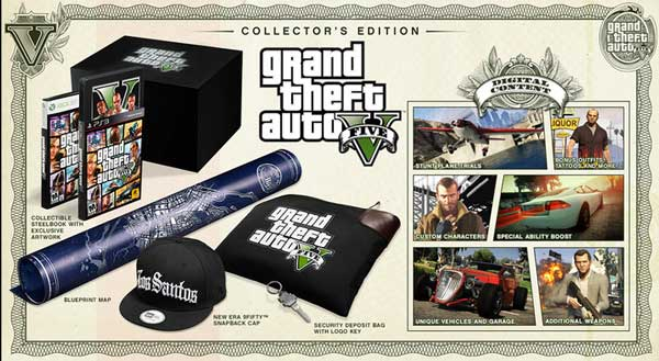 Grand Theft Auto V Collectors Edition pack