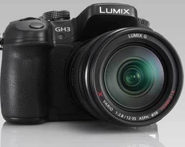 Panasonic GH3 front angle