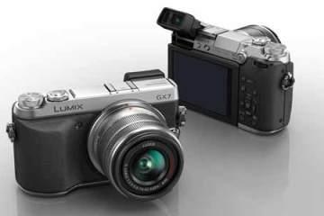Panasonic Lumix GX7 front and back views