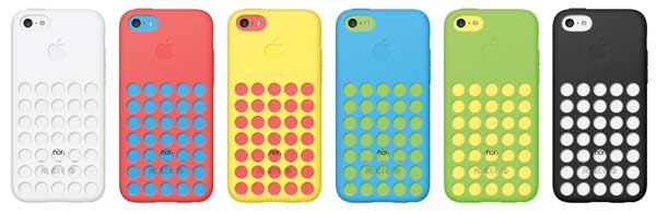 iPhone 5C cases, colour range