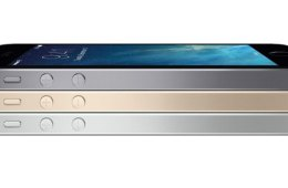iPhone 5s space gray, slate, and gold - side view