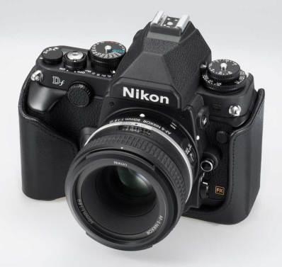 Nikon Df DSLR camera, front right angle view