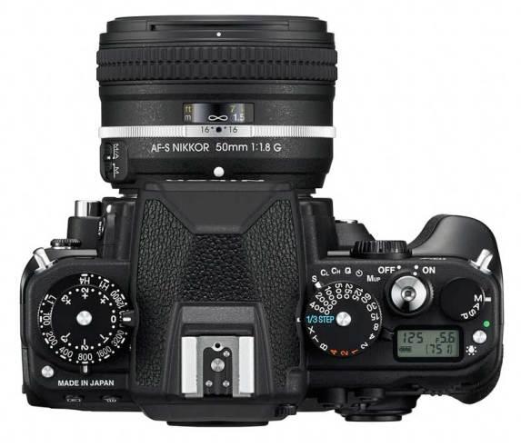 Nikon Df DSLR camera, top view