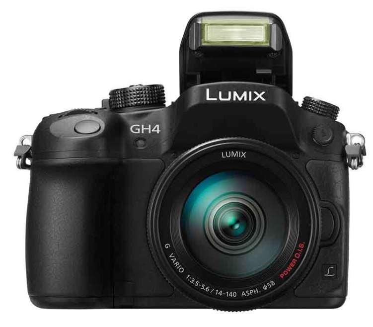 Panasonic Lumix GH4 camera, front view