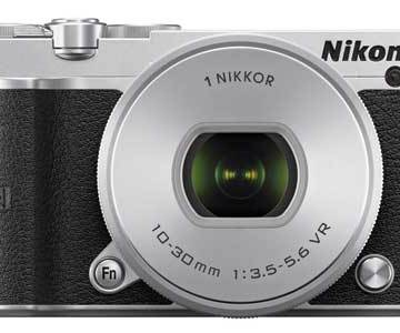 Nikon 1 J5 mirrorless camera black, front view