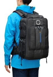 Olympus CBG-12 Camera Bag, being worn