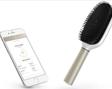 Withings Kerastase Hair Coach brush and app screen