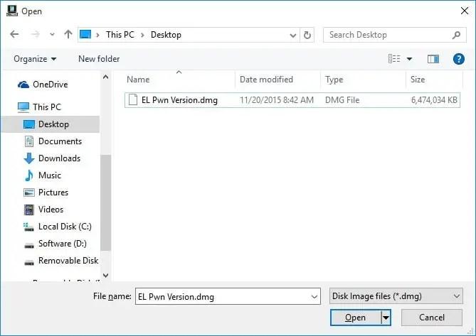 Open Your DMG File