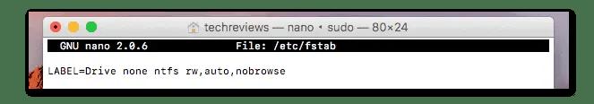 Add code to fstab