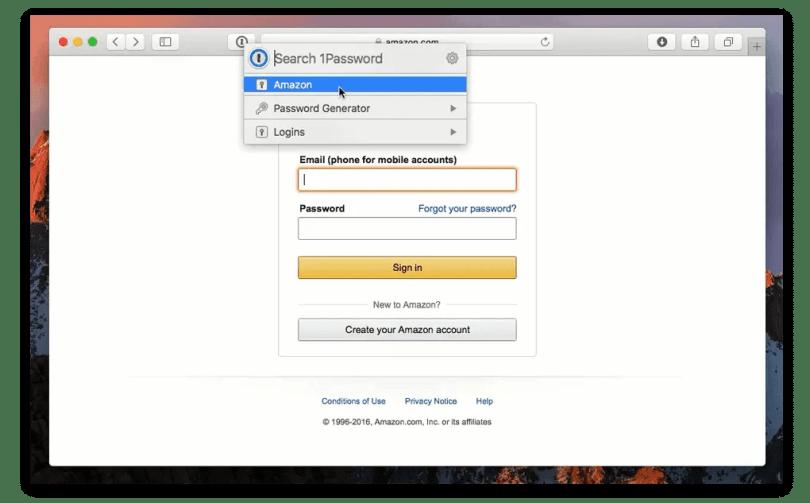 1Password on Safari