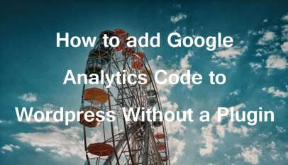add google analytics code to wordpress