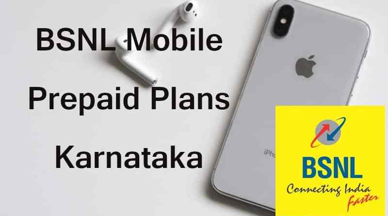 BSNL Mobile Prepaid Plans Karnataka