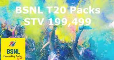 BSNL T20 Packs 199 & 499