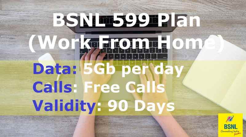 BSNL 599 Plan Details in One Screen